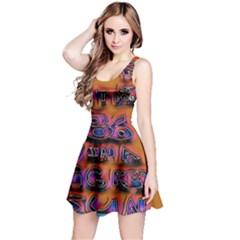 Words Reversible Sleeveless Dress