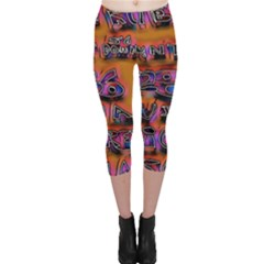 Words Capri Leggings