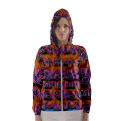 Words Hooded Wind Breaker (women)