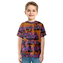 Words Kids  Sport Mesh Tee