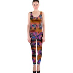 Words Onepiece Catsuit