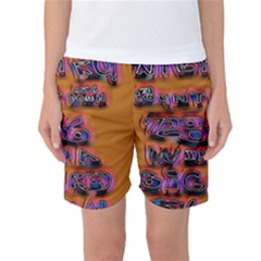 Words Women s Basketball Shorts