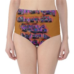 Words High Waist Bikini Bottoms