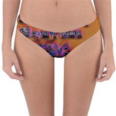 Words Reversible Hipster Bikini Bottoms