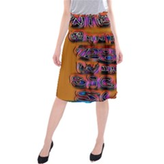 Words Midi Beach Skirt