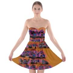 Words Strapless Bra Top Dress