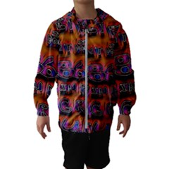 Words Hooded Wind Breaker (kids)