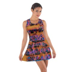 Words Cotton Racerback Dress