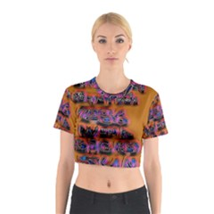 Words Cotton Crop Top
