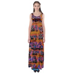 Words Empire Waist Maxi Dress