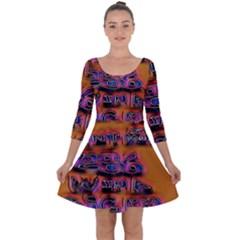 Words Quarter Sleeve Skater Dress