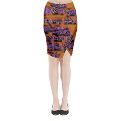 Words Midi Wrap Pencil Skirt