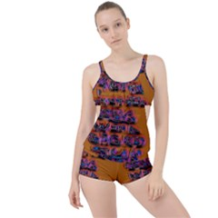 Words Boyleg Tankini Set