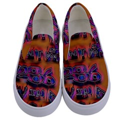 Words Kids  Canvas Slip Ons