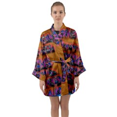 Words Long Sleeve Kimono Robe