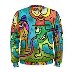 Painting Painted Ink Cartoon Men s Sweatshirt