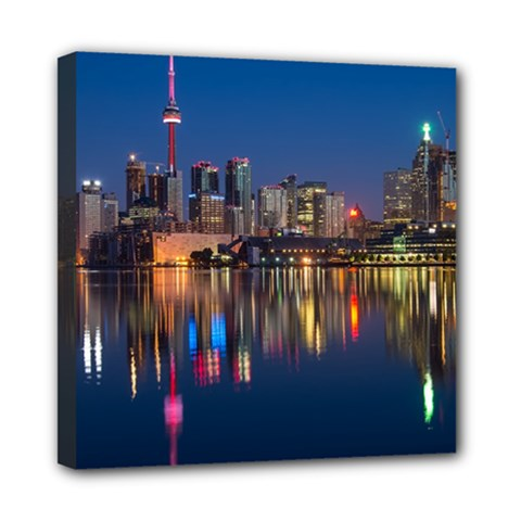 Buildings Can Cn Tower Canada Mini Canvas 8  X 8