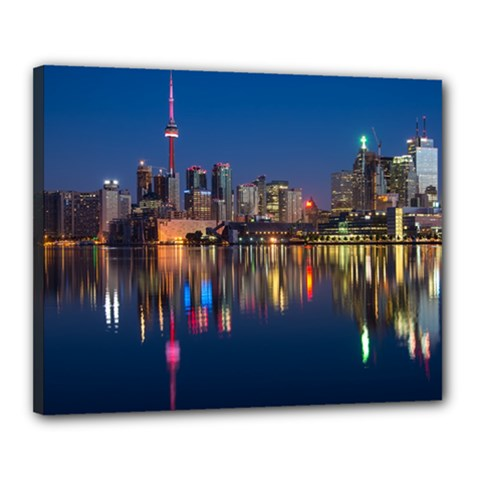 Buildings Can Cn Tower Canada Canvas 20  X 16