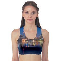 Buildings Can Cn Tower Canada Sports Bra