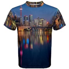 Buildings Can Cn Tower Canada Men s Cotton Tee