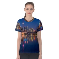 Buildings Can Cn Tower Canada Women s Cotton Tee