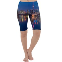 Buildings Can Cn Tower Canada Cropped Leggings
