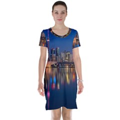 Buildings Can Cn Tower Canada Short Sleeve Nightdress