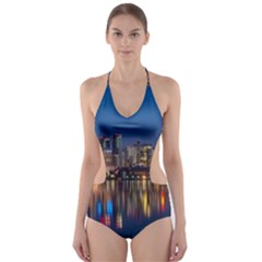 Buildings Can Cn Tower Canada Cut Out One Piece Swimsuit