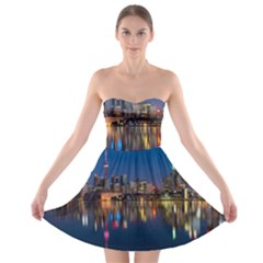 Buildings Can Cn Tower Canada Strapless Bra Top Dress