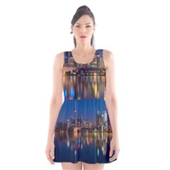 Buildings Can Cn Tower Canada Scoop Neck Skater Dress
