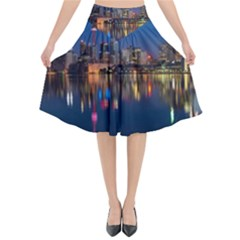 Buildings Can Cn Tower Canada Flared Midi Skirt