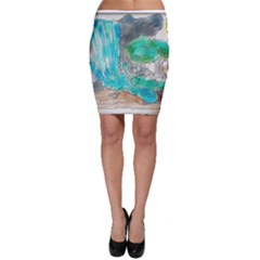 Doodle Sketch Drawing Landscape Bodycon Skirt