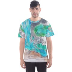 Doodle Sketch Drawing Landscape Men s Sports Mesh Tee