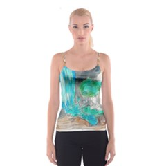 Doodle Sketch Drawing Landscape Spaghetti Strap Top