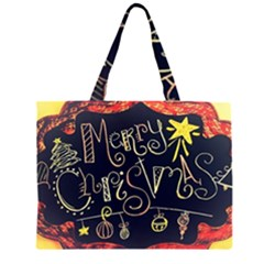 Chalk Chalkboard Board Frame Zipper Large Tote Bag