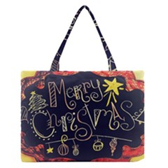 Chalk Chalkboard Board Frame Zipper Medium Tote Bag