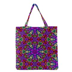 Seamless Tileable Pattern Design Grocery Tote Bag