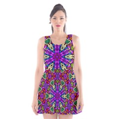Seamless Tileable Pattern Design Scoop Neck Skater Dress