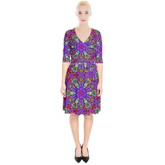 Seamless Tileable Pattern Design Wrap Up Cocktail Dress