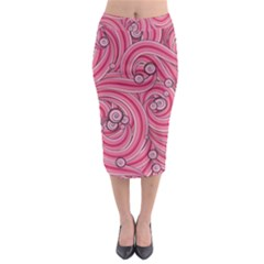 Pattern Doodle Design Drawing Midi Pencil Skirt