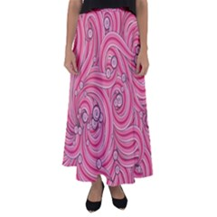 Pattern Doodle Design Drawing Flared Maxi Skirt