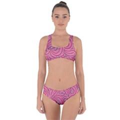Pattern Doodle Design Drawing Criss Cross Bikini Set