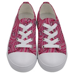 Pattern Doodle Design Drawing Kids  Low Top Canvas Sneakers