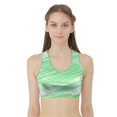 Dirty Dirt Structure Texture Sports Bra With Border