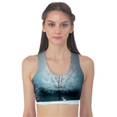 Winter Wintry Snow Snow Landscape Sports Bra