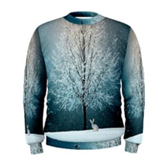 Winter Wintry Snow Snow Landscape Men s Sweatshirt
