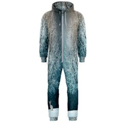 Winter Wintry Snow Snow Landscape Hooded Jumpsuit (men)