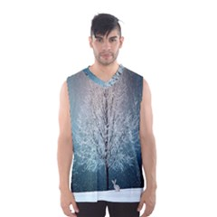 Winter Wintry Snow Snow Landscape Men s Basketball Tank Top