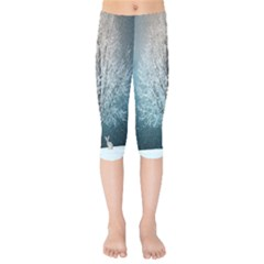 Winter Wintry Snow Snow Landscape Kids  Capri Leggings