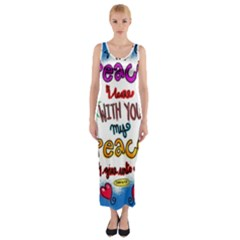 Christian Christianity Religion Fitted Maxi Dress